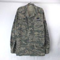 (40L) エアフォースタイガーストライプ BDU シャツジャケット ミリタリー 米軍