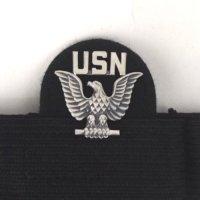 USN ピンズ 制帽用テープ付き  デッドストック【メール便のみ】