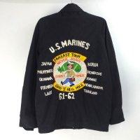 バック刺繍 U.S.NAVY ユーティリティージャケット 古着リメイク #2