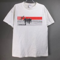 U2 VERTIGO ツアー Tシャツ 2006年 ホワイト 古着【メール便可】