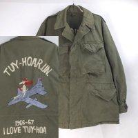 バック刺繍 M-1943フィールドジャケット 古着リメイク #2