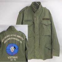 バック刺繍 M-65フィールドジャケット 古着リメイク #4