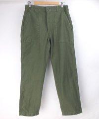 米軍 ユーティリティ パンツ コットンサテン実物 実寸W31L28
