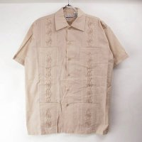 (BEG/S)  Chic Elegant  キューバシャツ(新品)【メール便可】