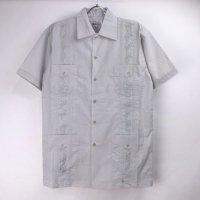 (LGR/XL)  Chic Elegant  キューバシャツ(新品)【メール便可】