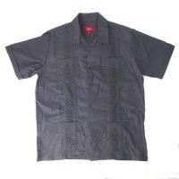 (DGRY/L) Maximos マキシモス キューバシャツ (新品) 半袖  【メール便可】