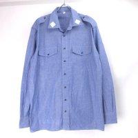 イタリア軍 シャンブレーシャツ オリジナル 50 デッドストック 【メール便可】