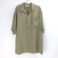 【30%オフ】  トミーバハマ 半袖 シルクシャツ OLV  #7 Tommy Bahama【メール便可】(sale商品)