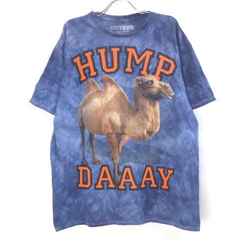 ラクダ HUMP タイダイ ムラ染め Tシャツ 古着 大きいサイズ【メール便可】 アニマル柄