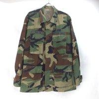 米軍 ウッドランドカモフラージュ BDU シャツジャケット SR