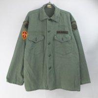 米軍 TROOPER コットンサテン ユーティリティシャツ  U.S.ARMY