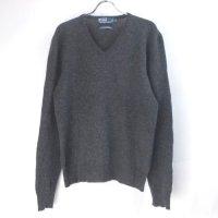 【20%オフ】 ラルフローレン  Vネック ラムウール セーター CGR(sale商品)