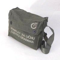 セルビア軍 M2 バッグ ガスマスク デッドストック B品【メール便可】