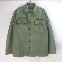 米軍  コットンサテン ユーティリティシャツ  U.S.ARMY 初期筒袖