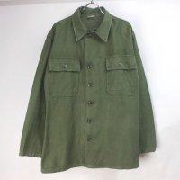 米軍  コットンサテン ユーティリティシャツ  筒袖初期 袖リサイズ