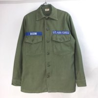 米軍  コットンサテン ユーティリティシャツ USAF DIXON