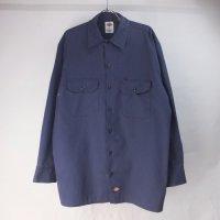 ディッキーズ 長袖 ワークシャツ NVY #2 DIckies 【メール便可】