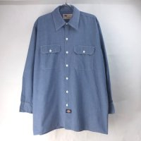 ディッキーズ 長袖 ワークシャツ CHNBL #1 DIckies 【メール便可】