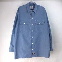 ディッキーズ 長袖 ワークシャツ CHNBL #2 DIckies 【メール便可】