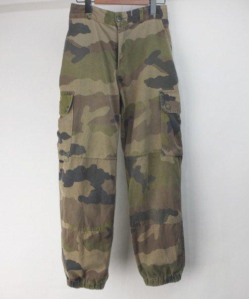 フランス軍 カモ F2 パンツ #3 実寸W27L26