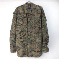 米軍  USMC ウッドランドマーパット カモ ミリタリーシャツジャケット(SR)