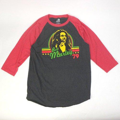ボブマーリー ラグラン ベースボール  Tシャツ   (古着) 【メール便可】