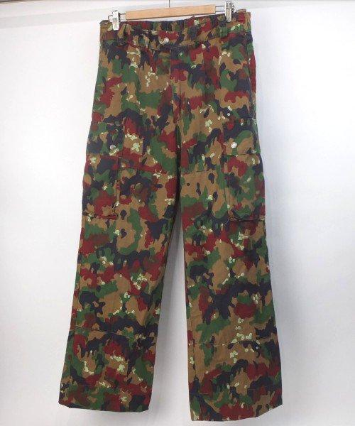 スイス軍 アルペンカモ パンツ 実寸W32.5L30