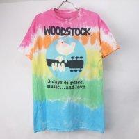 woodstck ウッドストック タイダイ  Tシャツ M  (古着) 【メール便可】