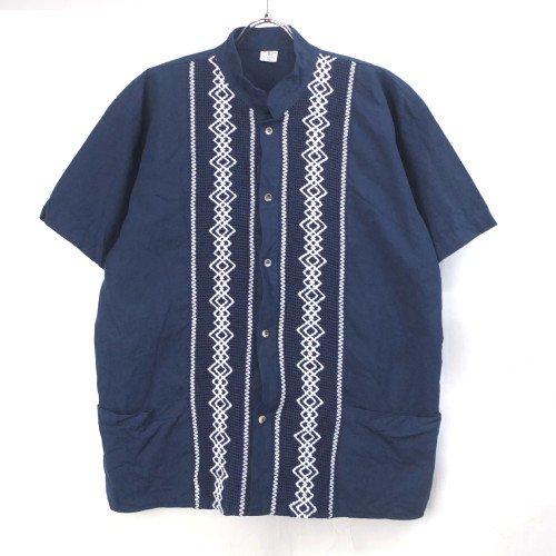 ノーカラー キューバシャツ【メール便可】