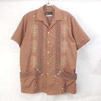 Guaya teca キューバシャツ  BRN【メール便可】
