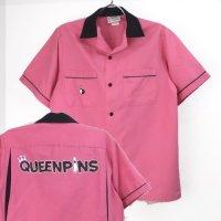 Cruisin クルージン ボウリングシャツ  QUEENPINS ピンク【メール便可】