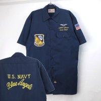ディッキーズ 半袖 ワークシャツ #22 U.S.NAVY BLUE ANGELS【メール便可】