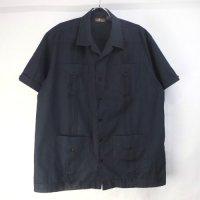 Cafe Luna キューバシャツ ブラック L【メール便可】