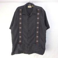 Cubavera キューバシャツ ブラック XL【メール便可】