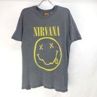 ニルヴァーナ NIRVANA スマイル GRY Tシャツ 古着【メール便可】
