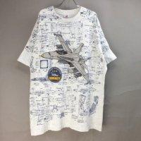 F/A-18 ホーネット 総柄 Tシャツ 古着 USA製【メール便可】