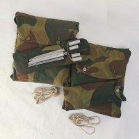 ベルギー軍 パップテント 一式 (シート2ポール8ペグ10) ポンチョ