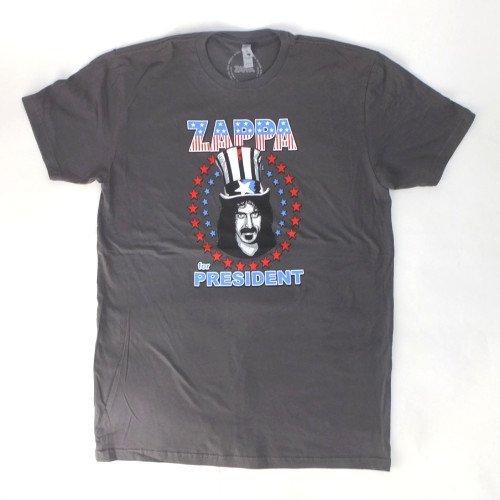 (L) フランクザッパ FOR PRESIDENT Tシャツ (新品) 【メール便可】