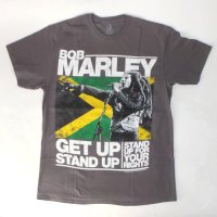 (L) ボブマーリー MARLEY GET UP STAND UP Tシャツ (新品) 【メール便可】