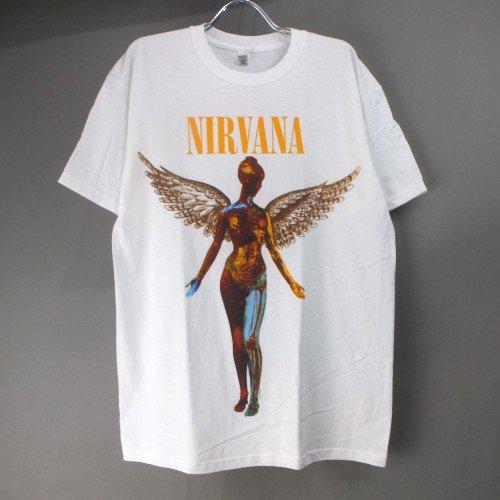 (M) ニルヴァーナ   IN UTERO  Tシャツ(新品B品)リペア【メール便可】