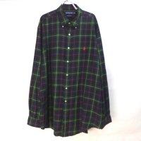 ラルフローレン GOLF  チェック ボタンダウン シャツ XL  ビッグシャツ 【メール便可】