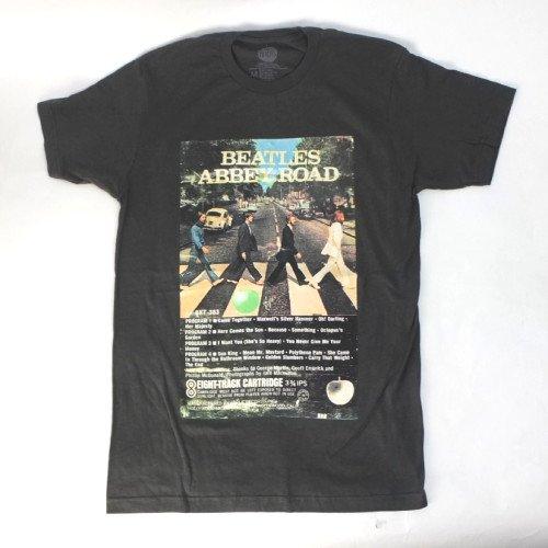 (M) ビートルズ ABBEY ROAD EIGHT-TRACK Tシャツ (新品)  BEATLES【メール便可】