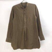 イギリス軍 カラーレス ウールシャツ プルオーバー ヴィンテージ
