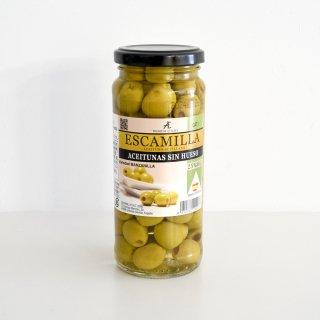 エスカミージャ グリーンオリーブ塩漬け(種なし)瓶
