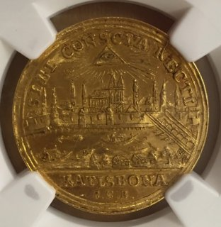 (1792-1803) Germany REGENSBURG DUCAT (3.5g) 【MS62PL】