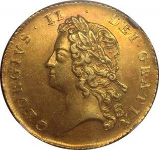 1738 G.BRITAIN 2G 【AU58】