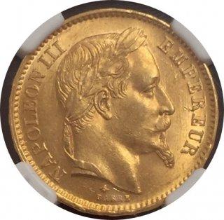 1868 FRANCE G20F 【MS63】