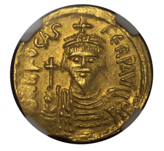 BYZANTINE EMPIRE Phocas,AD 602-610【Ch AU Strike:4/5 Surface:3/5 graffito】