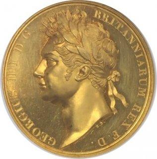 BRITISH HISTORICAL MEDAL 1821 G.BRIT GOLD GEORGE IV CORONATION【PF 62 CAMEO】