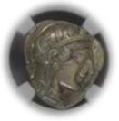 ATTICA, ATHENS c.440-404 BC AR Tetradrachm(17.20g) obv Athena rv owl, olive spray, moon【ChAU5/5】